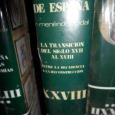 Libros de segunda mano: LA TRANSICIÓN DEL SIGLO XVII AL XVII, TOMO XXVIII, MENÉNDEZ PIDAL, PRECINTADO. Lote 104976287