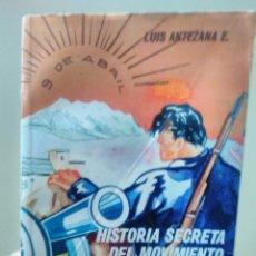 Libros de segunda mano: LUIS ANTEZANA E.HISTORIA SECRETA DEL MOVIMIENTO NACIONALISTA REVOLUCIONARIO 9 ABRIL LA PAZ BOLIVIA 7. Lote 105344835
