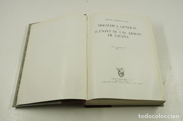 Libros de segunda mano: Heráldica general y fuentes de las armas de España, Ignacio Vicente, 1956, Salvat ed.19,5x27cm - Foto 2 - 105876551