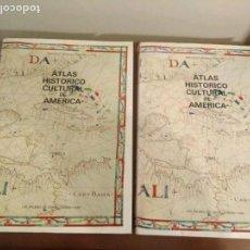Libros de segunda mano: ATLAS HISTÓRICO CULTURAL DE AMÉRICA TOMOS I -II - FRANCISCO MORALES PADRÓN. GRAN CANARIAS 1988. Lote 107337495