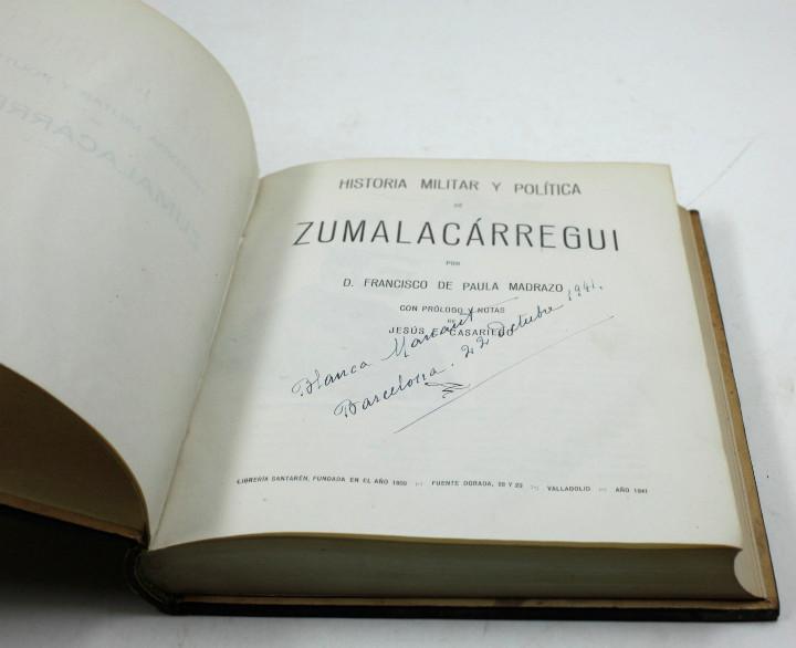 Libros de segunda mano: Historia militar y política de Zumalacárregui, F. de Paula Madrazo, 1941, Valladolid. 16,5x21,5cm - Foto 4 - 108985895