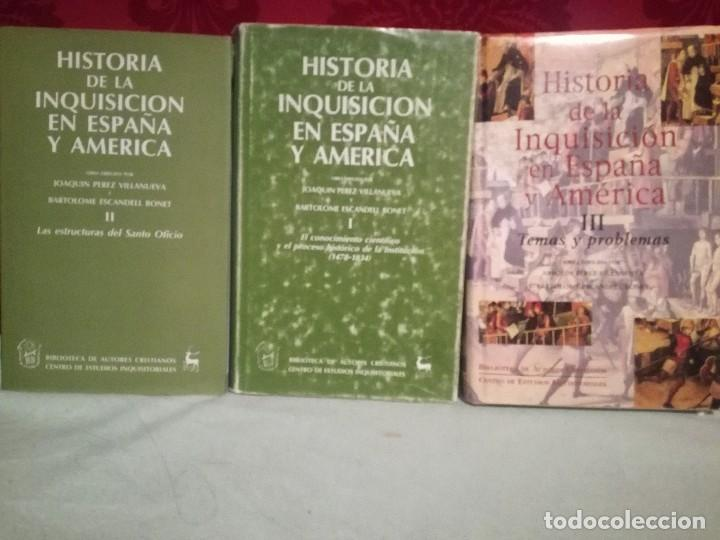 HISTORIA DE LA INQUISICIÓN EN ESPAÑA Y AMÉRICA (3 VOLS, OBRA COMPLETA) (Libros de Segunda Mano - Historia Moderna)