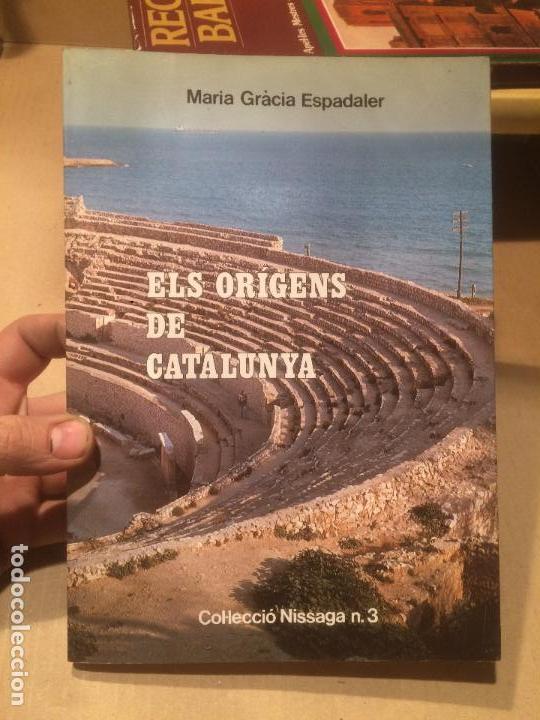 ANTIGUO LIBRO ELS ORIGENS DE CATALUNYA ESCRITO POR MARIA GRÀCIA ESPADALER AÑO 1984 (Libros de Segunda Mano - Historia Moderna)