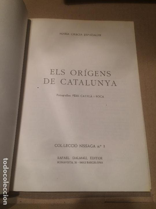 Libros de segunda mano: Antiguo libro els origens de Catalunya escrito por Maria Gràcia Espadaler año 1984 - Foto 4 - 110060351
