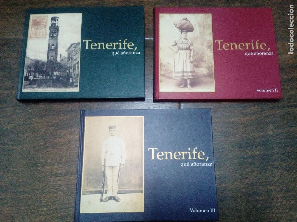 TENERIFE QUE AÑORANZA - 3 VOLUMENES- OBRA COMPLETA - CANARIAS (Libros de Segunda Mano - Historia Moderna)
