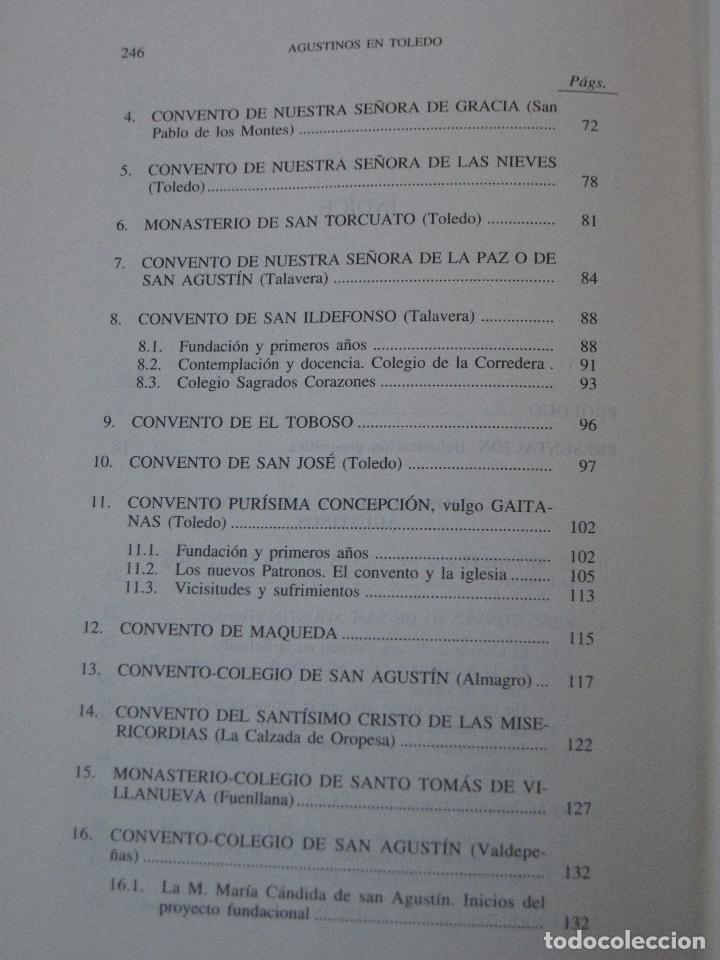 Libros de segunda mano: AGUSTINOS EN TOLEDO. - Foto 3 - 112009915