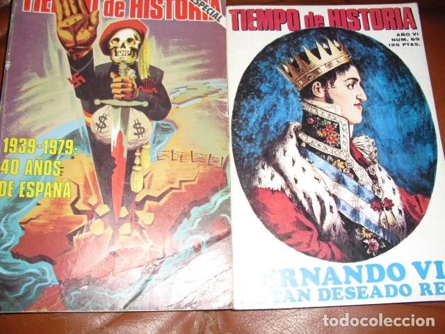 TIEMPO DE HISTORIA. 60 NUMEROS,VER DETALLE. (Libros de Segunda Mano - Historia Moderna)