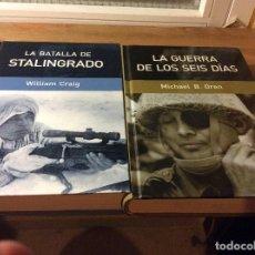 Libros de segunda mano: LA BATALLA DE STALINGRADO Y LA GUERRA DE LOS SEIS DÍAS . Lote 116232010
