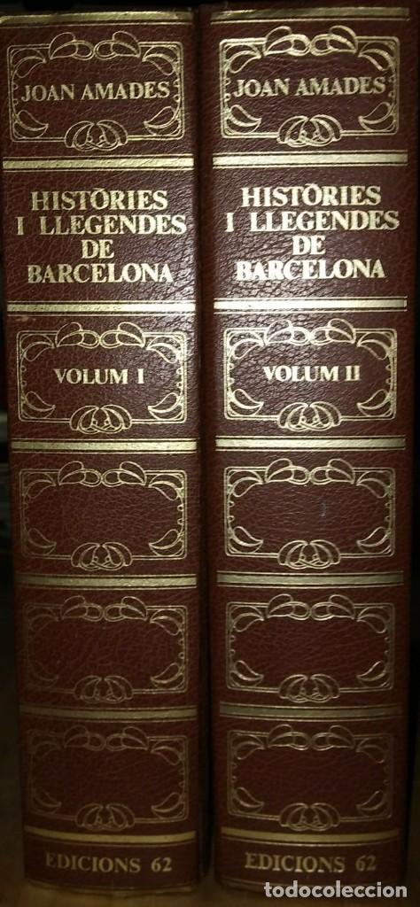 HISTÒRIES I LLEGENDES DE BARCELONA, PASSEJADA PELS CARRERS DE CIUTAT VELLA. JOAN AMADES (Libros de Segunda Mano - Historia Moderna)