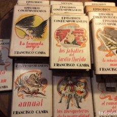 Libros de segunda mano: FRANCISCO CAMBA - EPISODIOS CONTEMPORÁNEOS- 15 TOMOS- MUY BUEN ESTADO - 1943 - 1948.. Lote 115628303