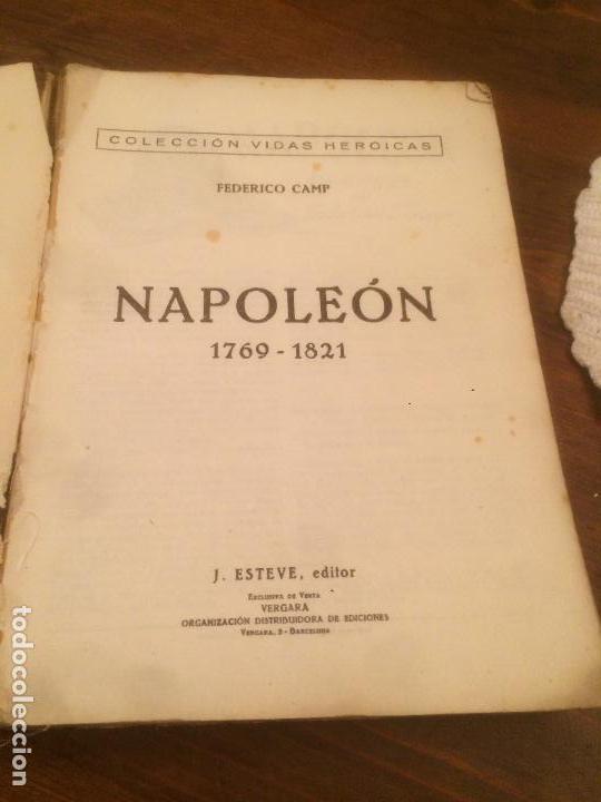 Libros de segunda mano: Antiguo libro Vidas Heroicas. Napoleón Editor J. Esteve año 1942 - Foto 3 - 116284851