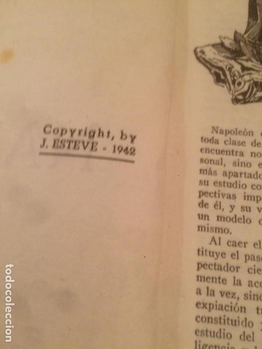 Libros de segunda mano: Antiguo libro Vidas Heroicas. Napoleón Editor J. Esteve año 1942 - Foto 4 - 116284851