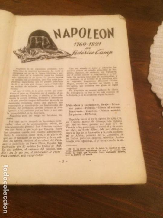 Libros de segunda mano: Antiguo libro Vidas Heroicas. Napoleón Editor J. Esteve año 1942 - Foto 5 - 116284851