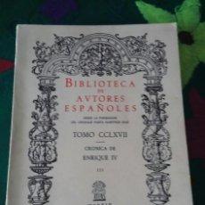 Libros de segunda mano: CRONICA DE ENRIQUE IV. TOMO CCLXVII. Lote 117558519