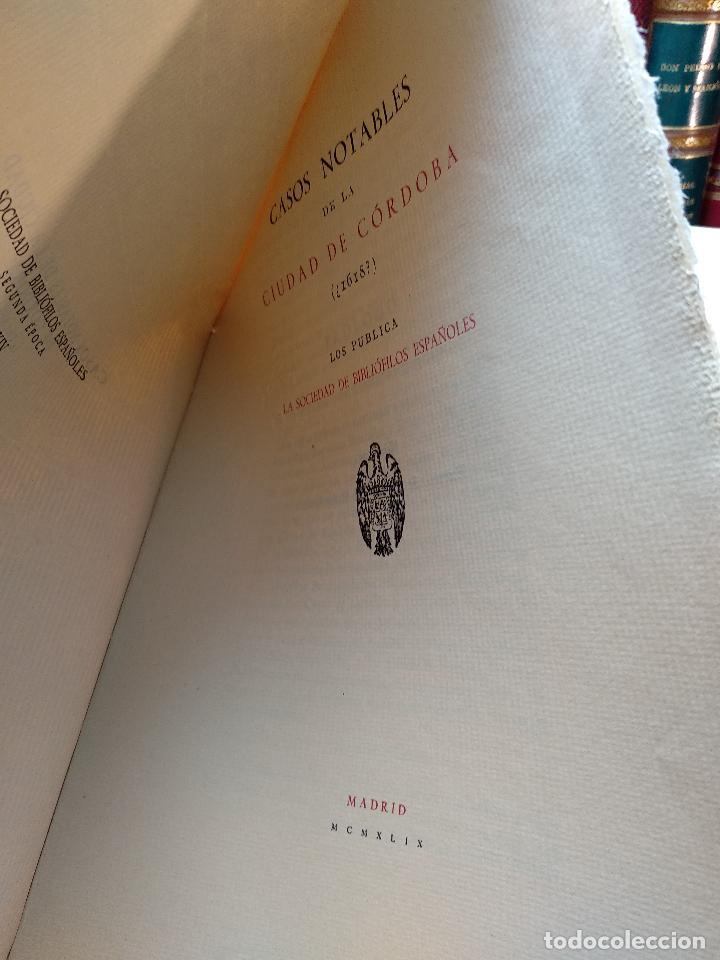 Libros de segunda mano: CASOS NOTABLES DE LA CIUDAD DE CÓRDOBA ( ¿1618? )SOCIEDAD DE BIBLIÓFILOS ESPAÑOLES - MADRID - 1949 - - Foto 2 - 117979827