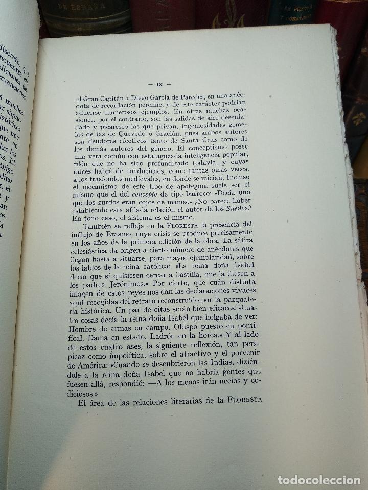 Libros de segunda mano: FLORESTA ESPAÑOLA(1574) - MELCHOR DE SANTA CRUZ DE DUEÑAS Y LOS DICHOS O SENTENCIAS DE LOS SIETE SAB - Foto 3 - 117980567