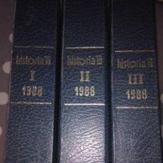 Libros de segunda mano: HISTORIA 16 ( 3 TOMOS ) AÑO 1988 COMPLETO. Lote 118698659