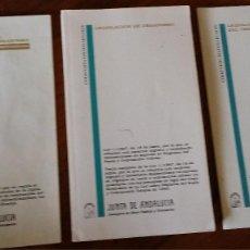 Libros de segunda mano: ORDENACIÒN DEL TERRITORIO, JUNTA DE ANDALUCIA. Lote 119218599