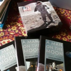 Libros de segunda mano: COLECCIÓN 3 TOMOS- A MAN ON THE MOON- ANDREW CHAIKIN, (30TH ANNIVERSARY,1969) TIME LIFE BOOKS,1999.. Lote 122378360