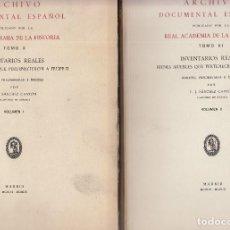 Libros de segunda mano: REAL ACADEMIA DE LA HISTORIA. BIENES MUEBLES QUE PERTENECIERON A FELIPE II. 2 VOLS. MADRID, 1956-9. Lote 122835879