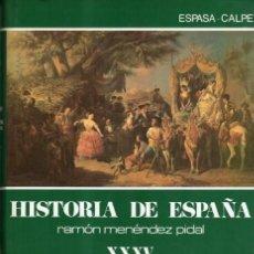 Libros de segunda mano: MENENDEZ PIDAL. HISTORIA DE ESPAÑA. TOMO XXXV, VOLUMEN 1. ROMANTICISMO. Lote 122944459