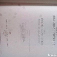 Libros de segunda mano: VOL XX EL IMPERIO NAPOLEÓNICO..GRAN HISTORIA UNIVERSAL. CLUB INTERNACIONAL DEL LIBRO. Lote 123664347