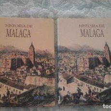 Libros de segunda mano: HISTORIA DE MALAGA. 2 VOLUMENES (EDITADO POR SUR. CARTONE). Lote 124730563