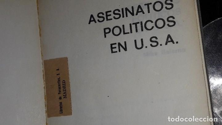 Libros de segunda mano: ASESINATOS POLÍTICOS EN USA - MIKE SALERNO - Foto 4 - 125230995