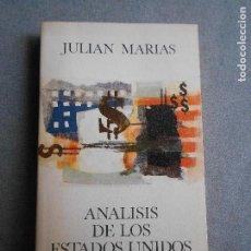 Libros de segunda mano: ANALISIS DE LOS ESTADOS UNIDOS. Lote 126522539
