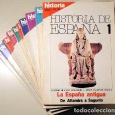 Libros de segunda mano: BLANCO, ANTONIO - VALIENTE, JESUS Y OTROS - HISTORIA DE ESPAÑA (13 VOL. - COMPLETO) - MADRID 1980 -. Lote 126619155