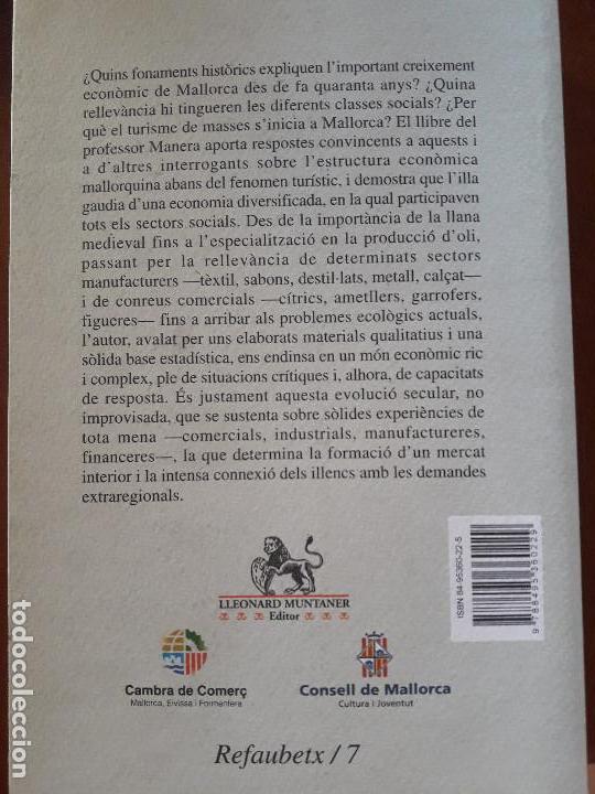 Libros de segunda mano: Història del creixement econòmic a Mallorca 1700-2000 Carles Manera - Foto 2 - 127630039