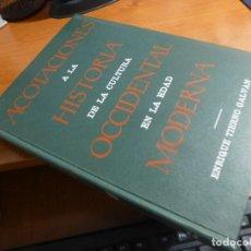 Libros de segunda mano: ACOTACIONES A LA HISTORIA DE LA CULTURA OCCIDENTAL EN LA EDAD MODERNA, DEDICA Y FIRMA TIERNO GALVAN. Lote 128290295