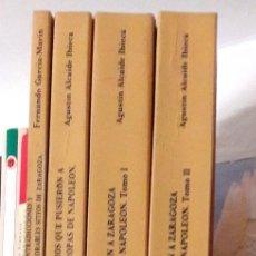 Libros de segunda mano: HISTORIA DE LOS DOS SITIOS DE ZARAGOZA 4 LIBROS AGUSTÍN ALCAIDE REPRODUCCIÓN EDICIONES 1830,31 Y 34. Lote 128298070