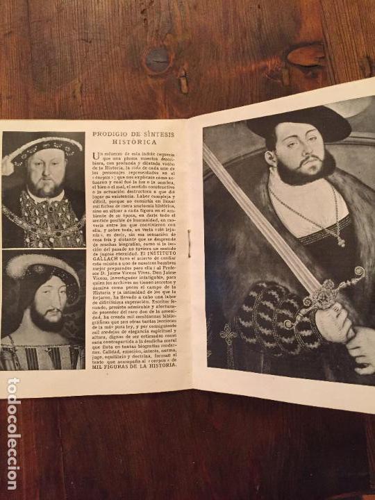Libros de segunda mano: Antiguo librito / libro figuras de la HIstoria nombres ilustres vidas pamosas insitituto Gallach - Foto 2 - 129427539