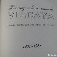 Libros de segunda mano: LIBRO HOMENAJE A LA ECONOMIA DE VIZCAYA. Lote 124152455
