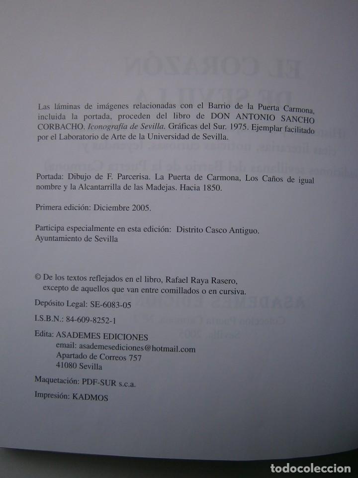 Libros de segunda mano: EL CORAZON DE SEVILLA Rafael Raya Rasero autor editor 2005 - Foto 10 - 132789418