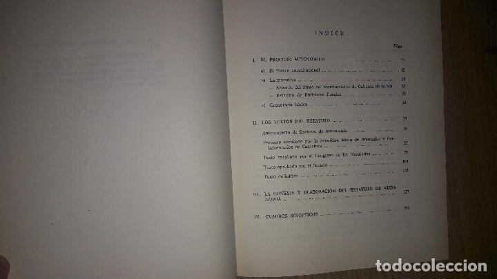 Libros de segunda mano: EL ESTATUTO DE AUTONOMÍA DE CANTABRIA... 1991.... - Foto 3 - 132912186