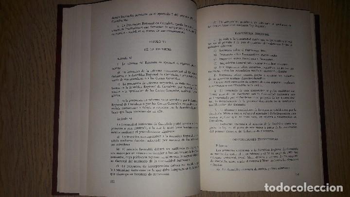 Libros de segunda mano: EL ESTATUTO DE AUTONOMÍA DE CANTABRIA... 1991.... - Foto 4 - 132912186