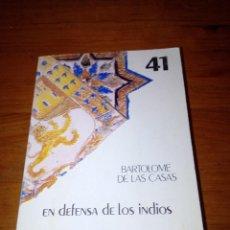 Libros de segunda mano - EN DEFENSA DE LOS INDIOS. BARTOLOME DE LAS CASAS. EST18B4 - 135044110