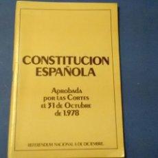 Libros de segunda mano: CONSTITUCIÓN ESPAÑOLA 31-10-78 .REFERÉNDUM 6-12 CASTELLANO 48PP CATALÁN48PP. Lote 136353190