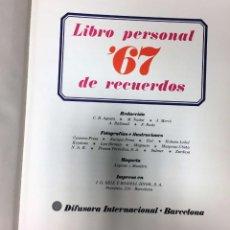 Libros de segunda mano: LIBRO PERSONAL DE RECUERDOS 1967. Lote 136741134