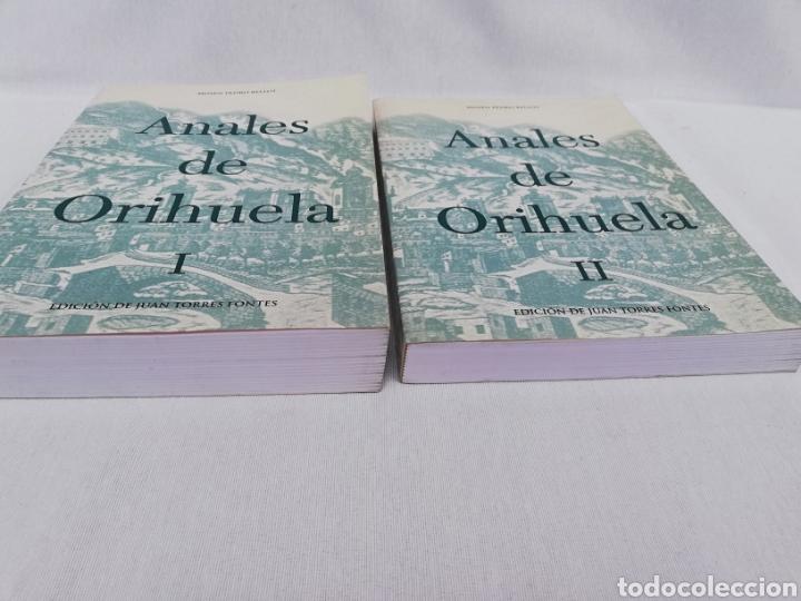 Libros de segunda mano: ANALES DE ORIHUELA. 2 TOMOS. MOSEN PEDRO BELLOT. EDICION DE JUAN TORRES FONTES. SIGLOS XIV-XVI - Foto 4 - 137561681