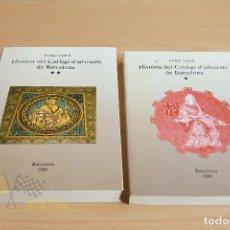 Libros de segunda mano: HISTÒRIA DEL COL·LEGI D'ADVOCATS - ENRIC JARDÍ - VOLUM I I II - 1989. Lote 137731006