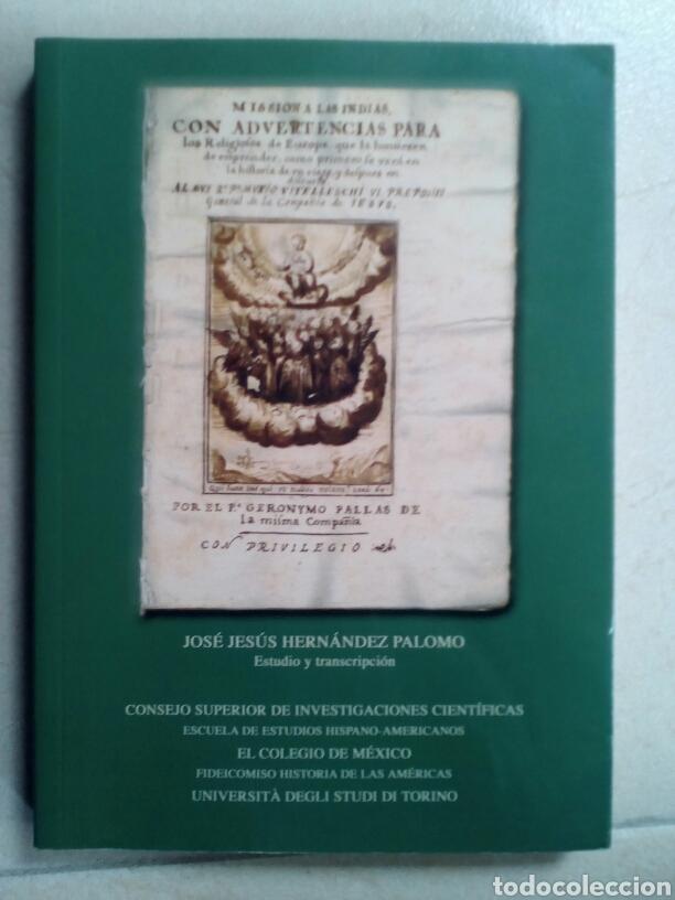 MISIÓN A LAS INDIAS. PADRE GERÓNYMO PALLAS. (Libros de Segunda Mano - Historia Moderna)