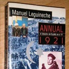 Livros em segunda mão: ANNUAL 1921, EL DESASTRE DE ESPAÑA EN EL RIF POR MANUEL LEGUINECHE DE ED. ALFAGUARA EN MADRID 1996. Lote 138814366