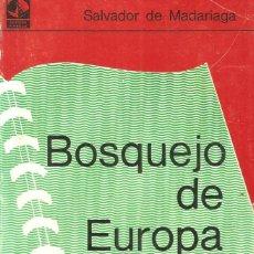Libros de segunda mano: BOSQUEJO DE EUROPA. SALVADOR DE MADARIAGA. Lote 140836050
