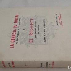Libros de segunda mano: LA CONDESA DE BURETA REGENTE DON PEDRO Mª RIC -MARIANO PANO Y RUATA-HEROES INDEPENDENCIA-ZARAGOZA. Lote 142176026