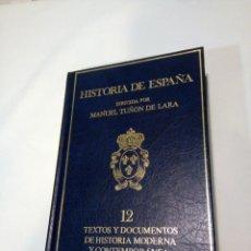 Libros de segunda mano: HISTORIA DE ESPAÑA.13 TOMOS, COMPLETA. TUÑON DE LARA. ED. LABOR. Lote 142256802