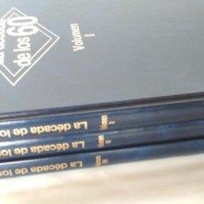 Libros de segunda mano: LA DECADA DE LOS 60 MUSICA, EDIPACK 1993, 3 LIBROS. Lote 142363154
