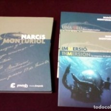 Libros de segunda mano: NARCIS MONTURIOL, 2 LIBROS + CD + FUNDA EXTERIOR MUSEO EMPORDA TEXTO CASTELLANO Y CATALÁN . Lote 143224634